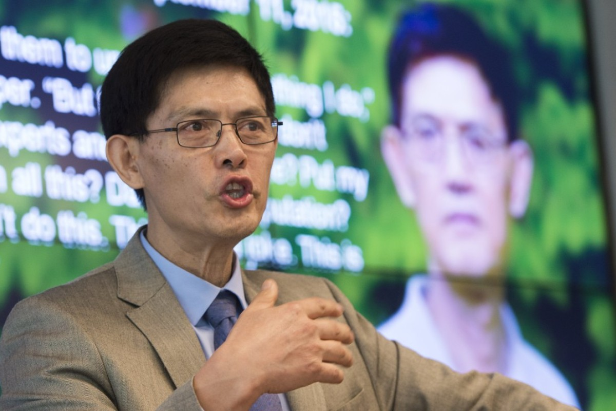 Chinese-born American physicist Xiaoxing Xi during a press conference in Washington, in September 2015. Picture: AFP