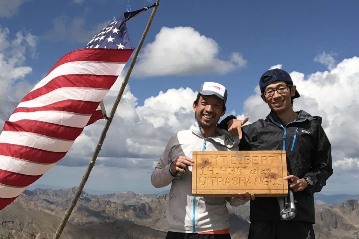Zhao Fan (right) and an Altra brand ambassador on a running trip in Utah. Photo: Handout