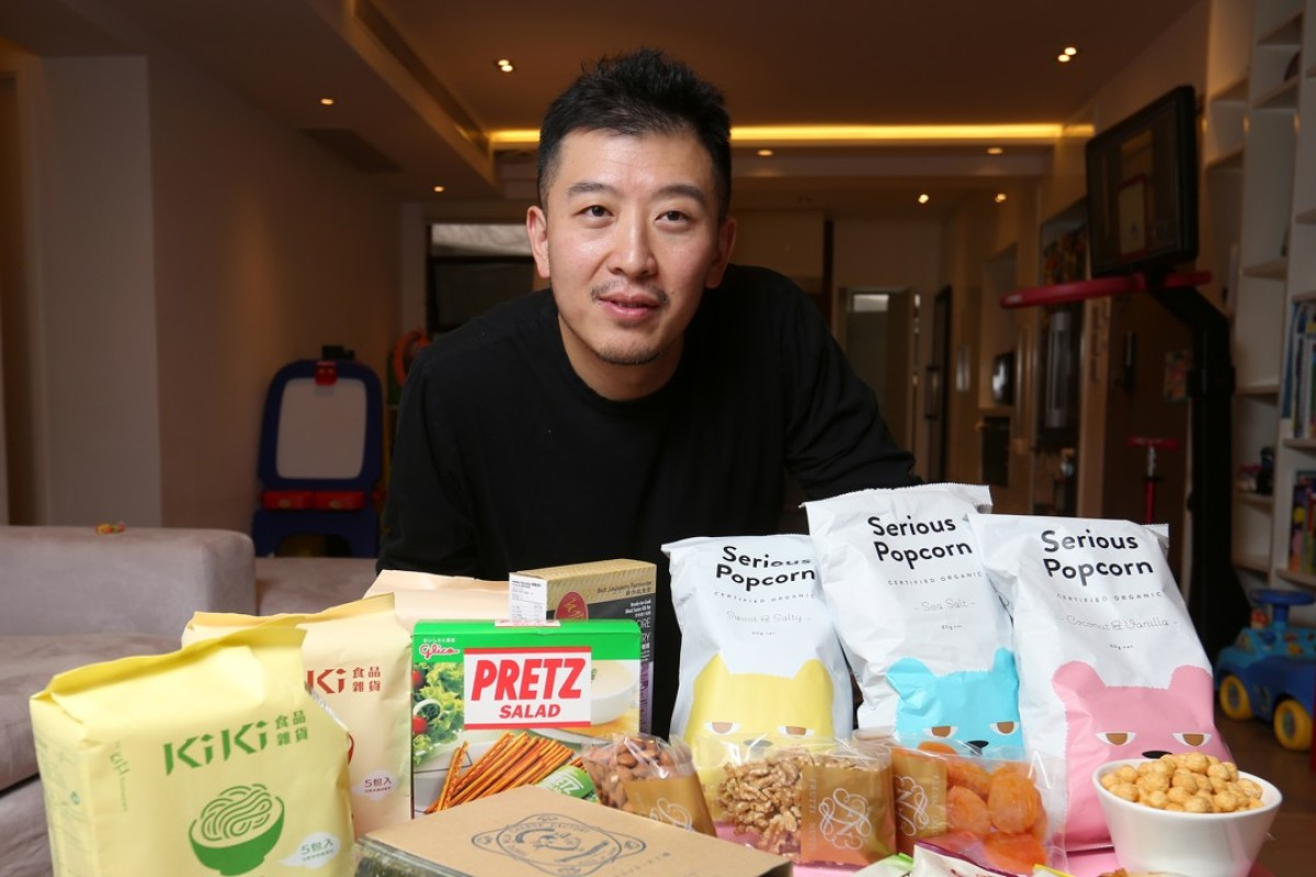 Gerald Li with a few of his favourite foods. Picture: Xiaomei Chen
