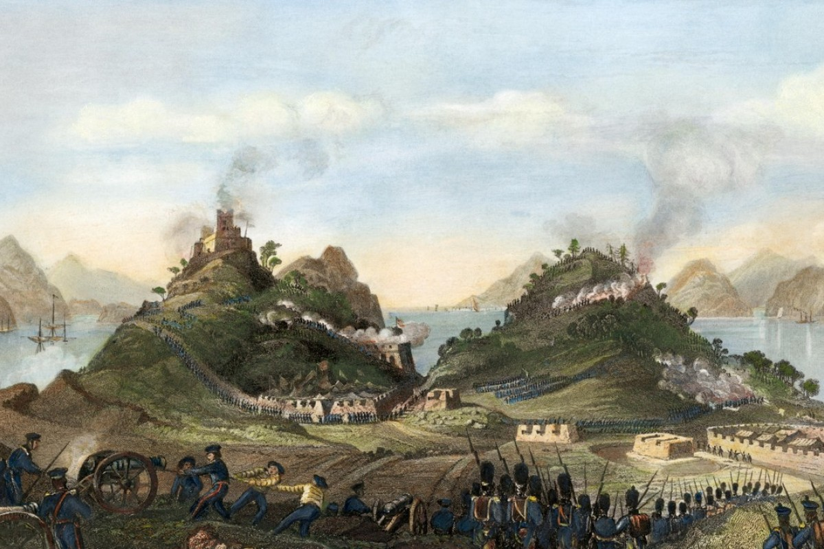 The British capture of Chuenpi, near Canton, in January 1841, during the first opium war. Pictures: Alamy