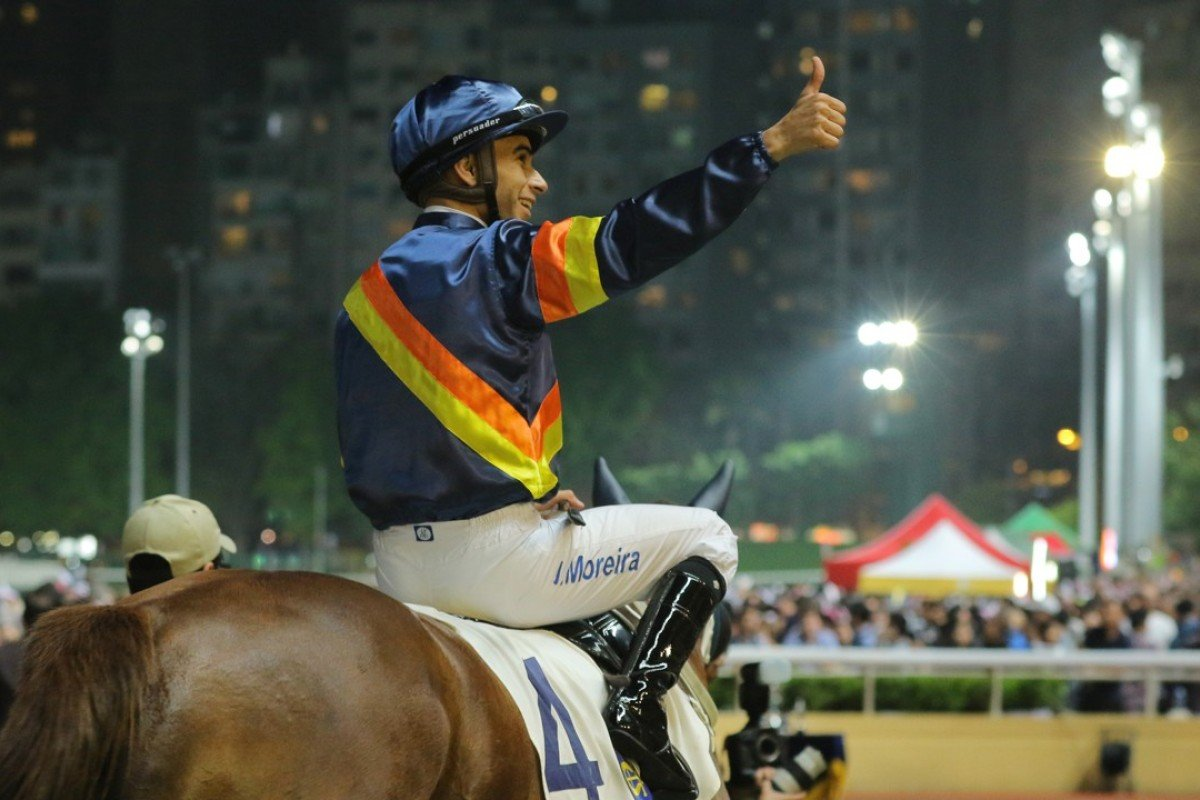 Joao Moreira will leave Hong Kong race at the end of the season to begin a new career in Japan. Photos: Kenneth Chan