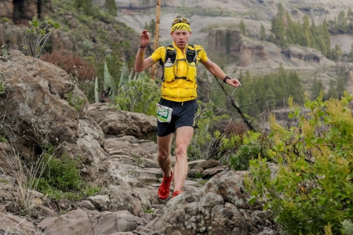 Jeff Campbell running the Transgrancanaria race, where he finished almost 30 places about his ITRA ranking. Photo: Arista