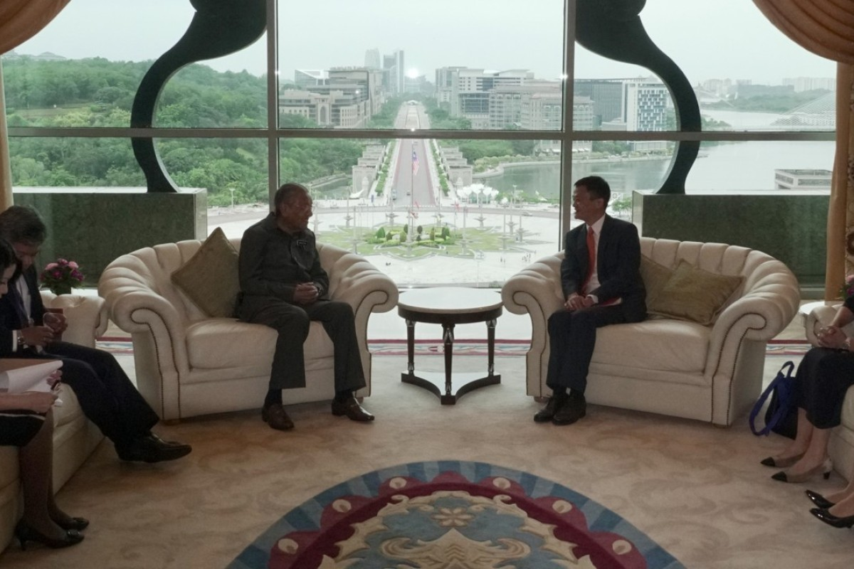 Mahathir Mohamad meets Jack Ma. Photo: SCMP Pictures