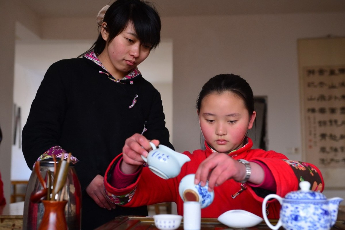 A Chinese tea ceremony class at Yuzhang Academy in Nanchang, Jiangxi province, China. Picture: Xinhua