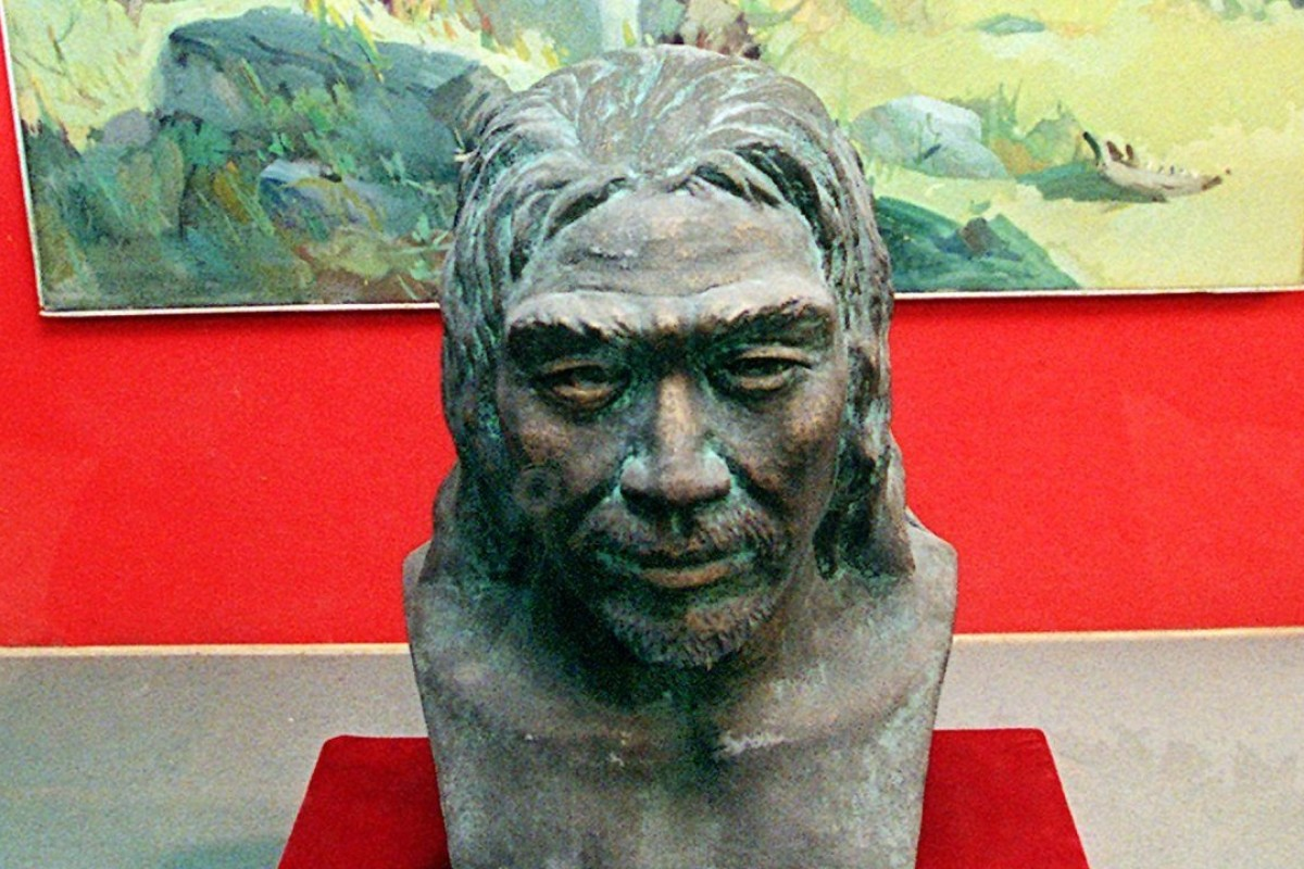 A replica of Peking Man, who lived in northern China some 500,000 years ago. Picture: AFP