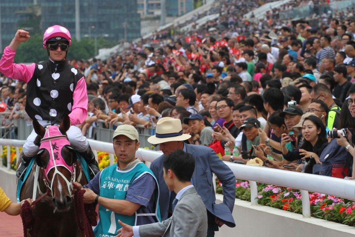 Beauty Generation returns after winning the Champions Mile. Photos: Kenneth Chan