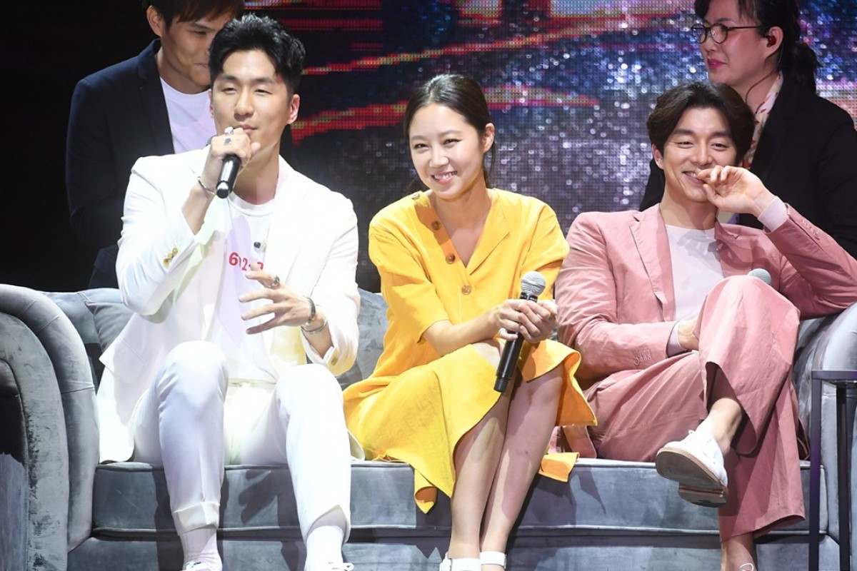 The South Korean heartthrob actor Gong Yoo (far right), who celebrated his 39th birthday on July 10, takes part in a 'meet the fans' event in Hong Kong.
