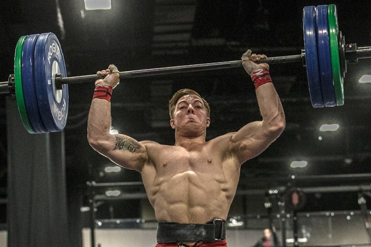 Noah Ohlsen trains. Photos: Twitter/@CrossFitGames