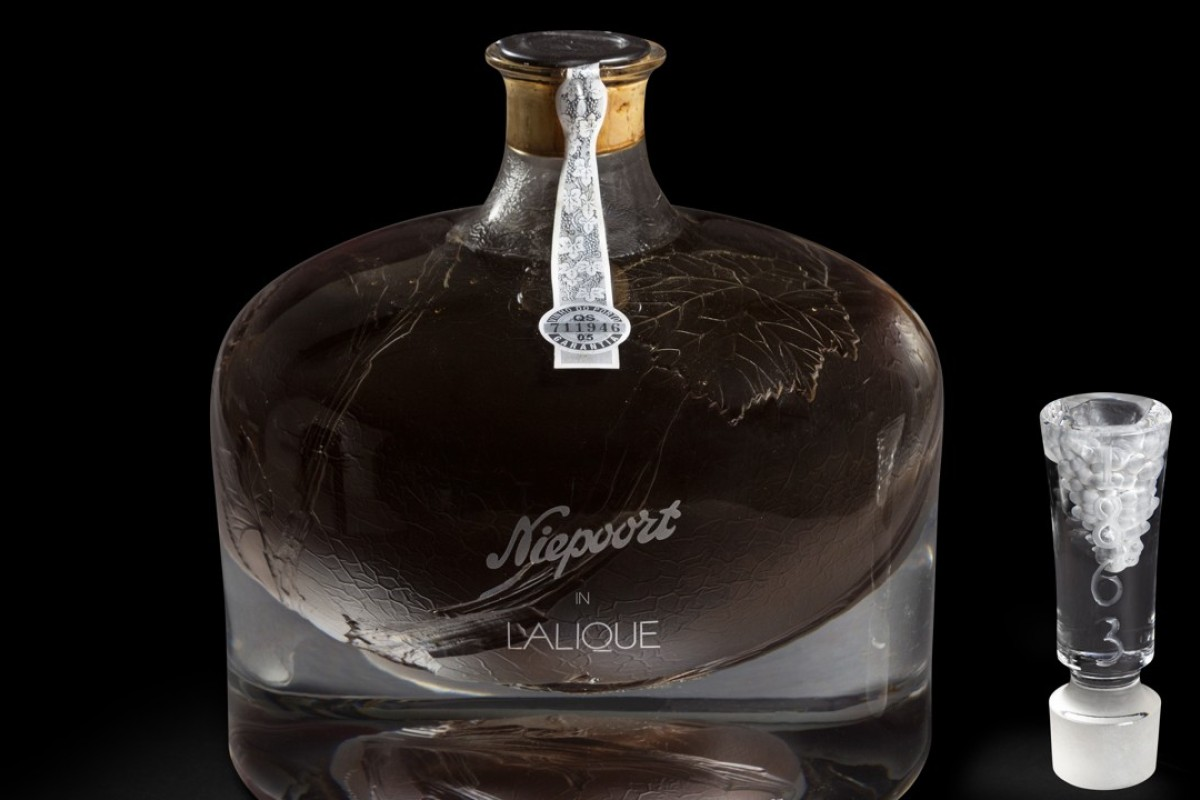 The Niepoort in Lalique 1863 decanter will go on auction in Hong Kong on November 3. Photo: Karine Faby