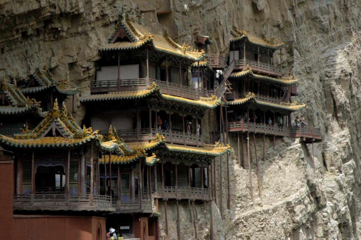 The Hanging Temple on Mount Heng, in Shanxi province, China. Picture: Alamy
