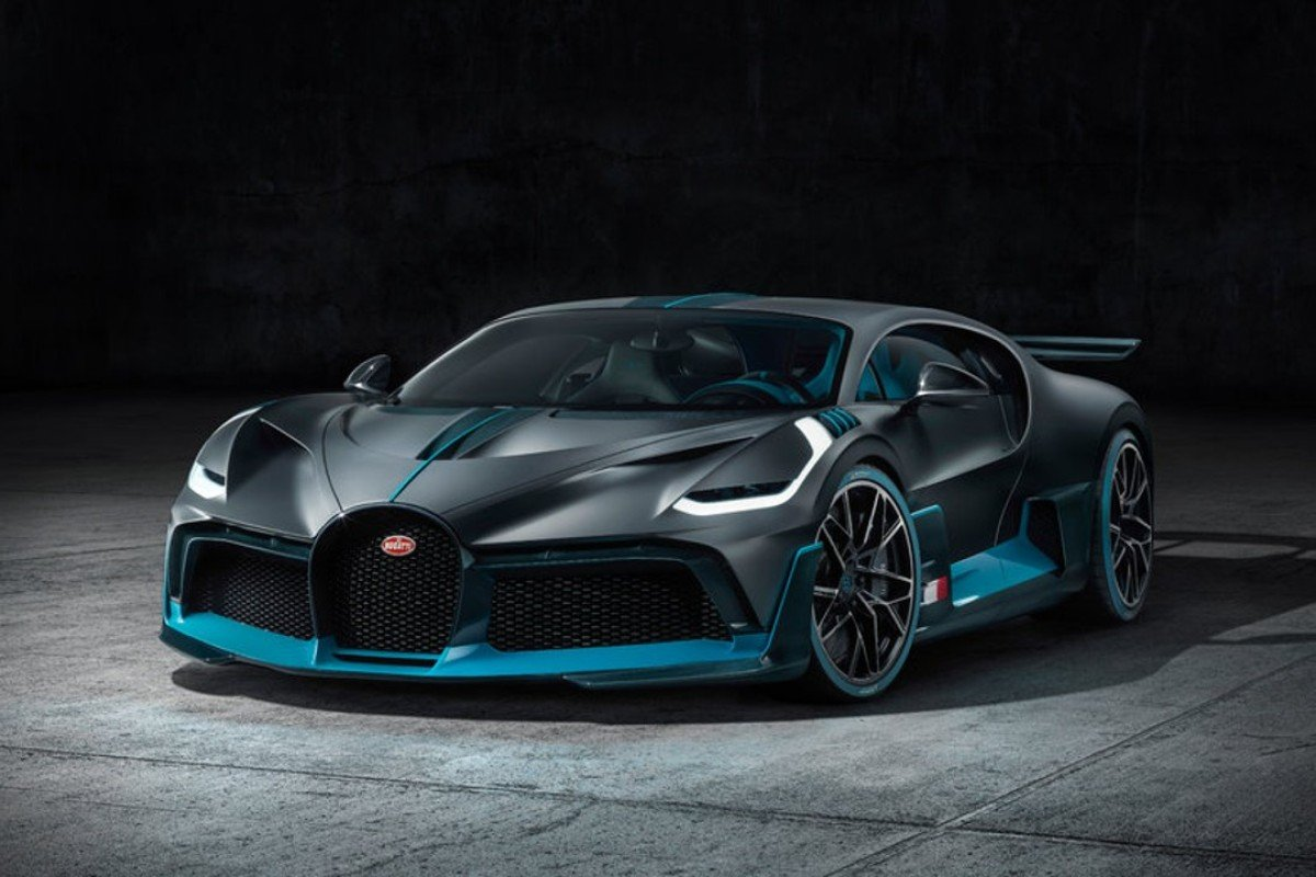 The new limited-edition high-performance Bugatti Divo supercar – which includes two striking colours, 'Titanium Liquid Silver' and 'Divo Racing Blue' created specially for the car – has a top speed of 236mph.