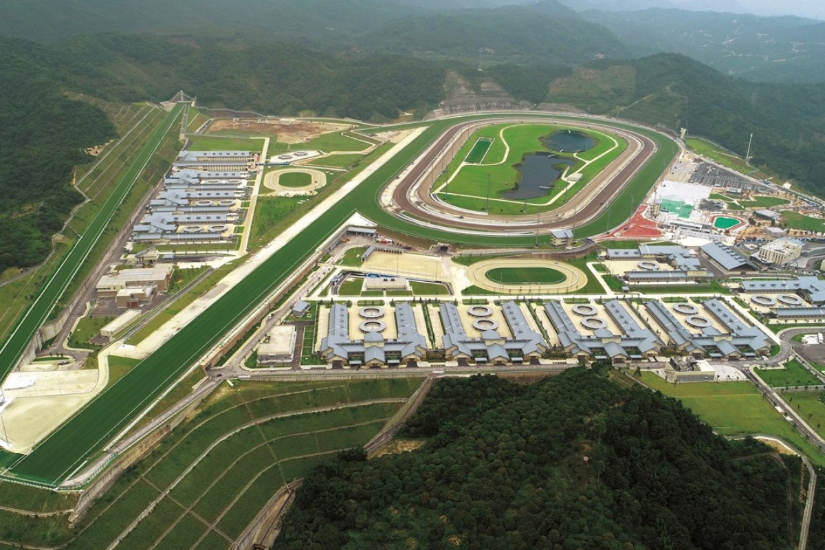 An aerial view of the Conghua Racecourse. Photo: HKJC