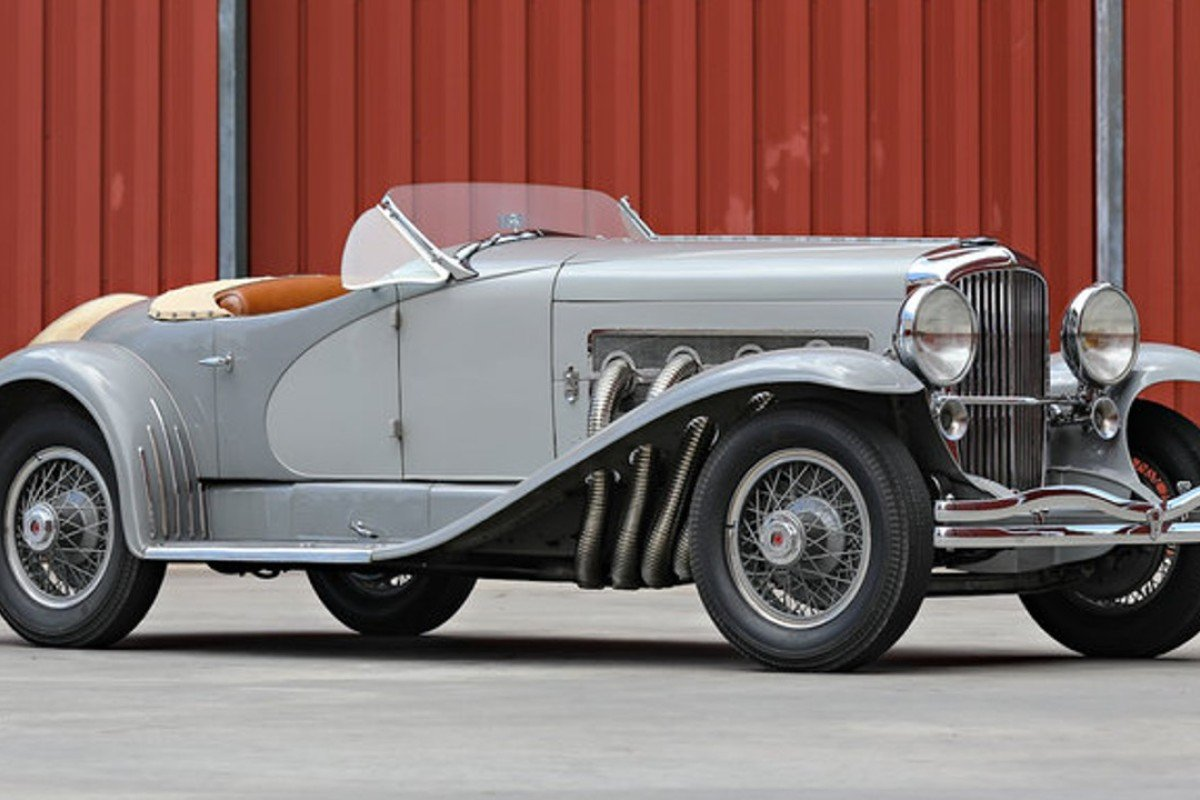 The 1935 Duesenberg SSJ which was sold for US$22 million last month – the most ever paid or an American car at an auction. Photo: Gooding & Company/Mathieu Heurtault