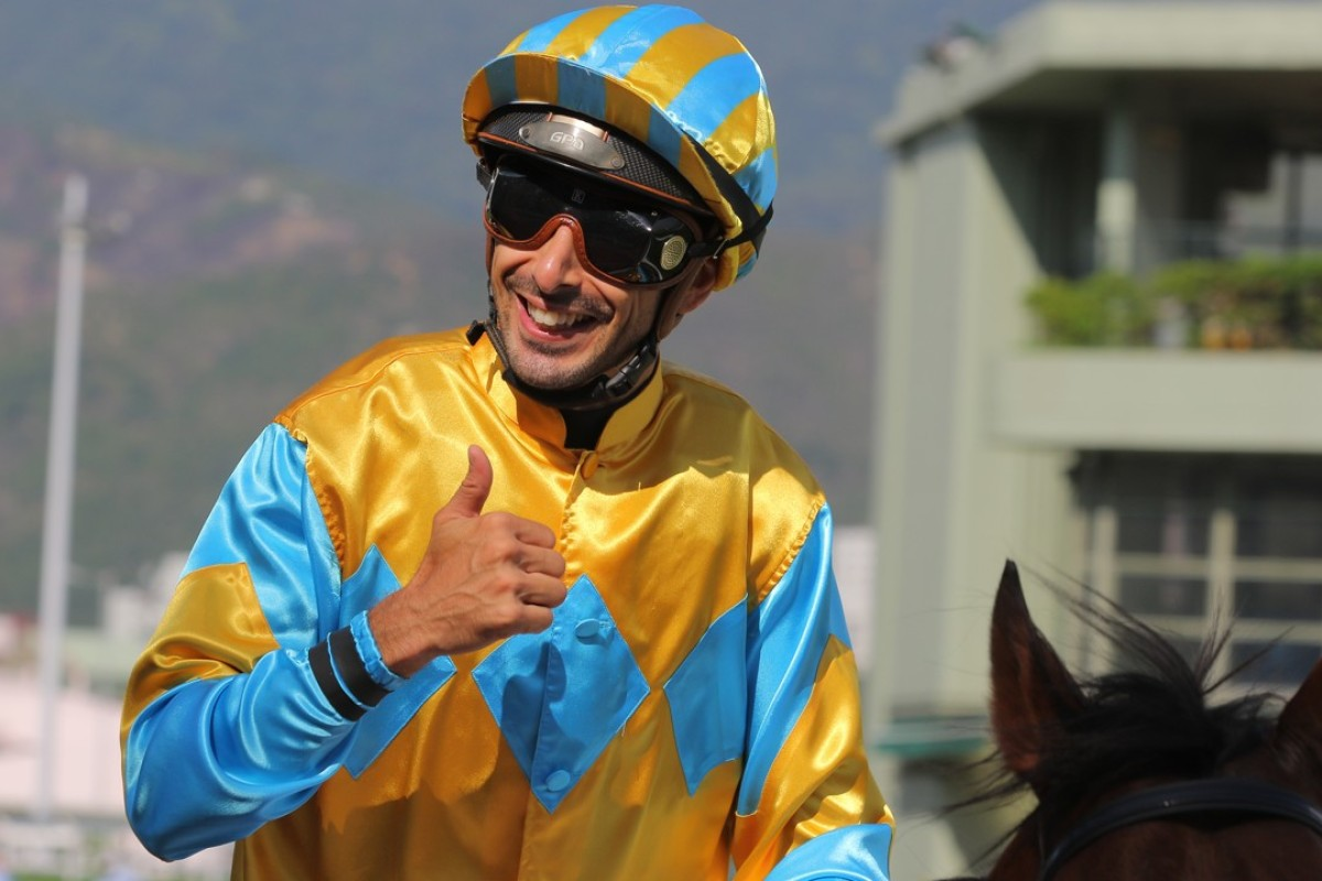 Alberto Sanna celebrates a winner. Photos: Kenneth Chan
