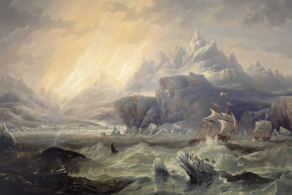 HMS Erebus and HMS Terror in the Antarctic (1847), by John Wilson Carmichael.