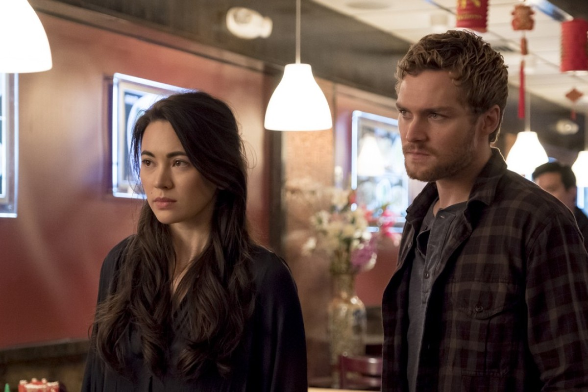 Jessica Henwick, as Colleen Wing, with friend and co-star Finn Jones, as leading character Danny Rand/Iron Fist, in a scene from Marvel's 'Iron Fist'. Photo: Netflix