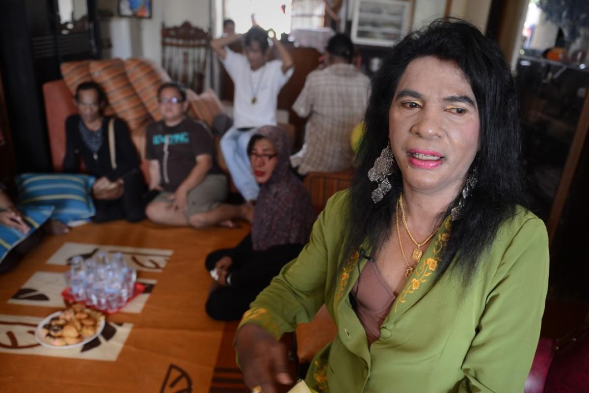 Yulianus Rettoblaut, a transgender activist in Indonesia. Photo: AFP