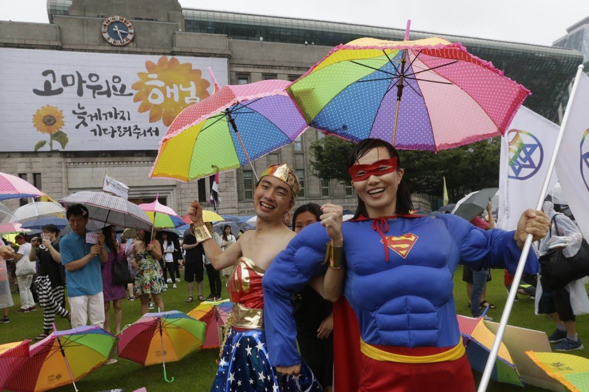 A poll last year found 58 per cent of South Koreans were against same-sex marriage. Photo: AP