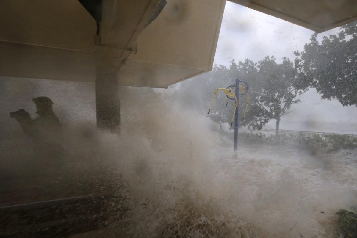 "A sign of ""global weirding""? Heng Fa Chuen, in Hong Kong, was battered by Typhoon Mangkhut, on September 15. Picture: Sam Tsang"