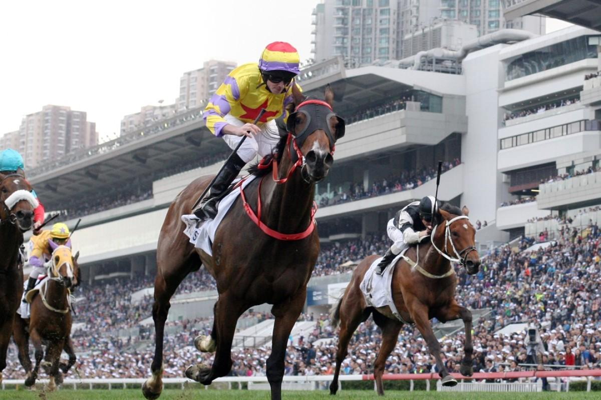 Ping Hai Star wins the Hong Kong Derby. Photos: Kenneth Chan