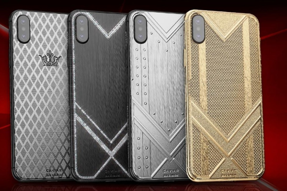 Caviar customised iPhone XS Max versions cost US$5,200 for the Maximum Ultralight, ranging up to US$15,340 for the Maximum Fine Gold version. Photo: Luxurylaunches