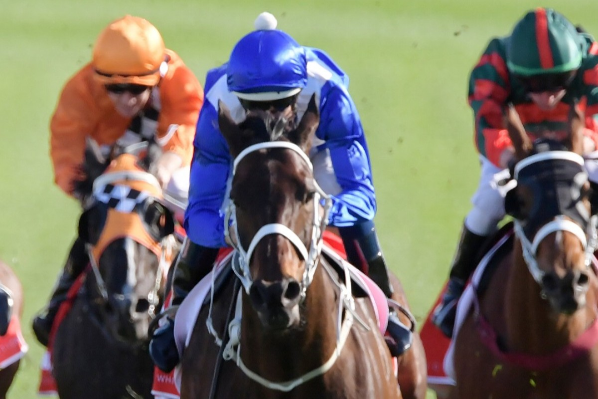 Winx surges to another victory under Hugh Bowman. Photo: AAP