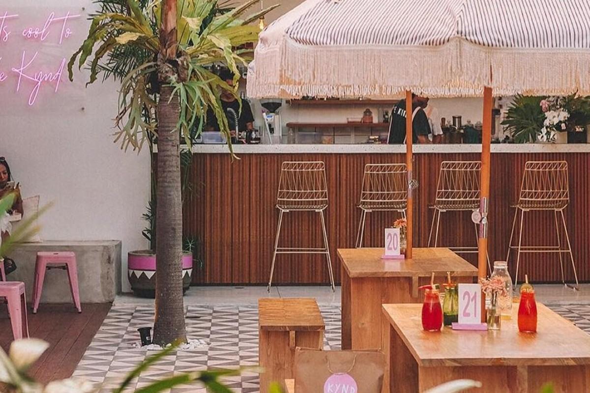 Kynd, a pink cafe in Seminyak, Bali, offers plant-based food. Photo: Instagram @kyndcommunity