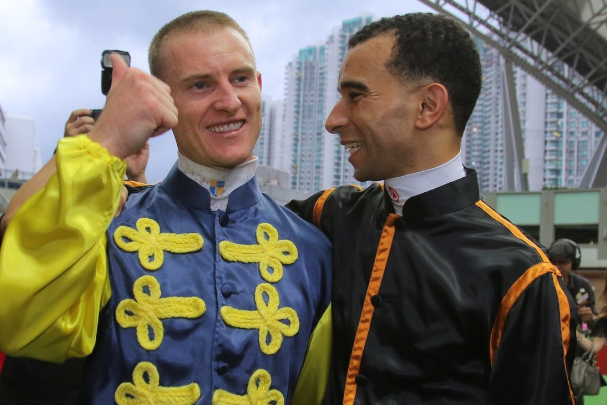 Jockey Zac Purton (left) says not everyone will be pleased if Joao Moreira (right) returns. Photos: Kenneth Chan