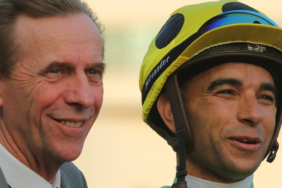 John Size and Joao Moreira celebrate a winner. Photos: Kenneth Chan