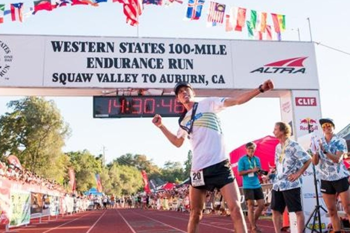 Hoka One One athlete Jim Walmsley sets the Western States record on his third attempt. Photo: Hoka One One