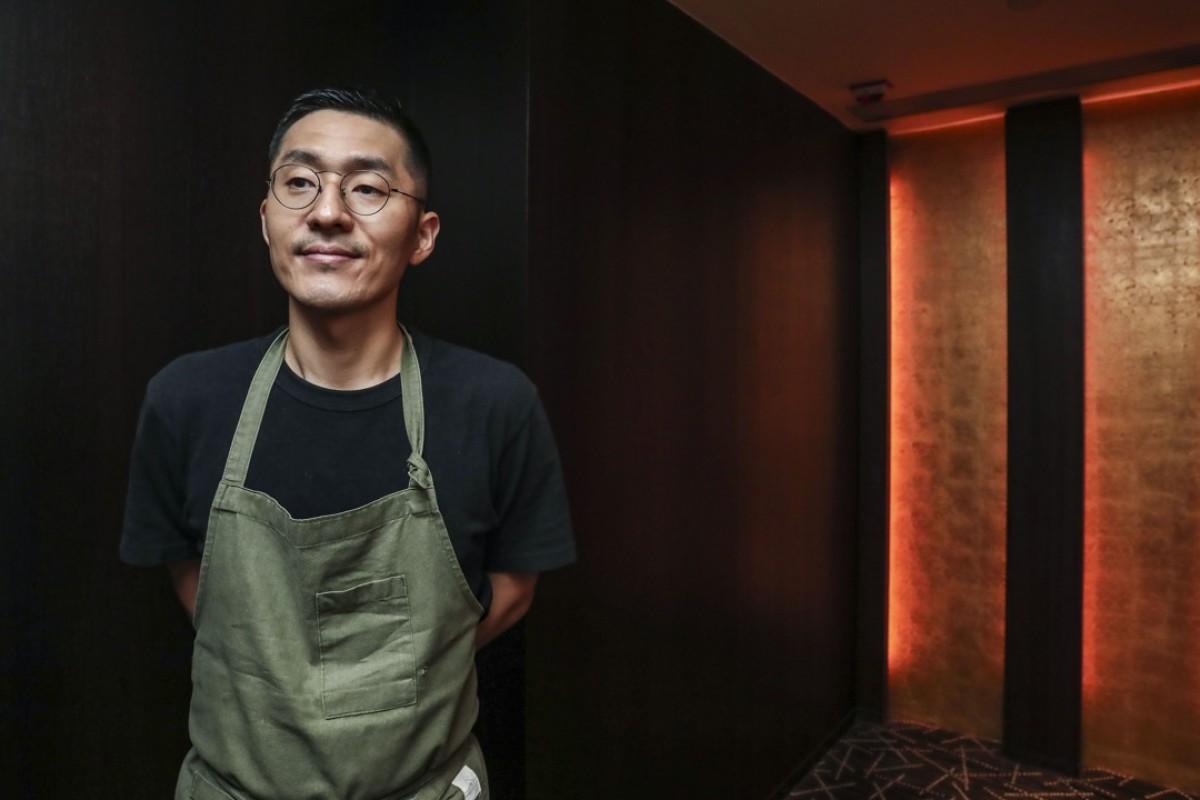 Chef Kang Min-goo at Amber, in Central. Picture: Jonathan Wong