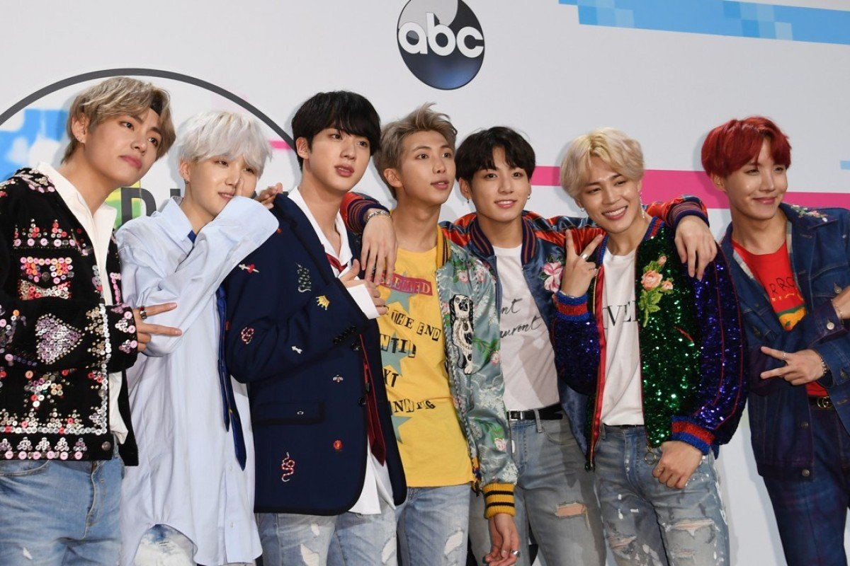 Boy band BTS pose at the 2017 American Music Awards in Los Angeles. Photo: AFP