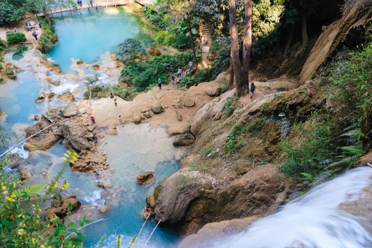 Kuang Si Falls are a popular excursion from Luang Prabang, in Laos. Pictures: Alamy