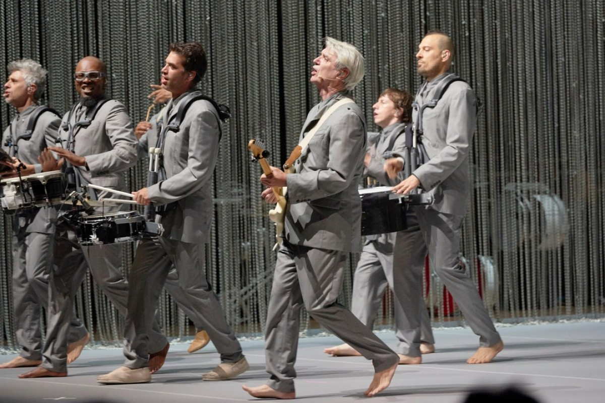 "David Byrne performs his ""American Utopia"" show in Minneapolis, in the United States, in May. Picture: Alamy"