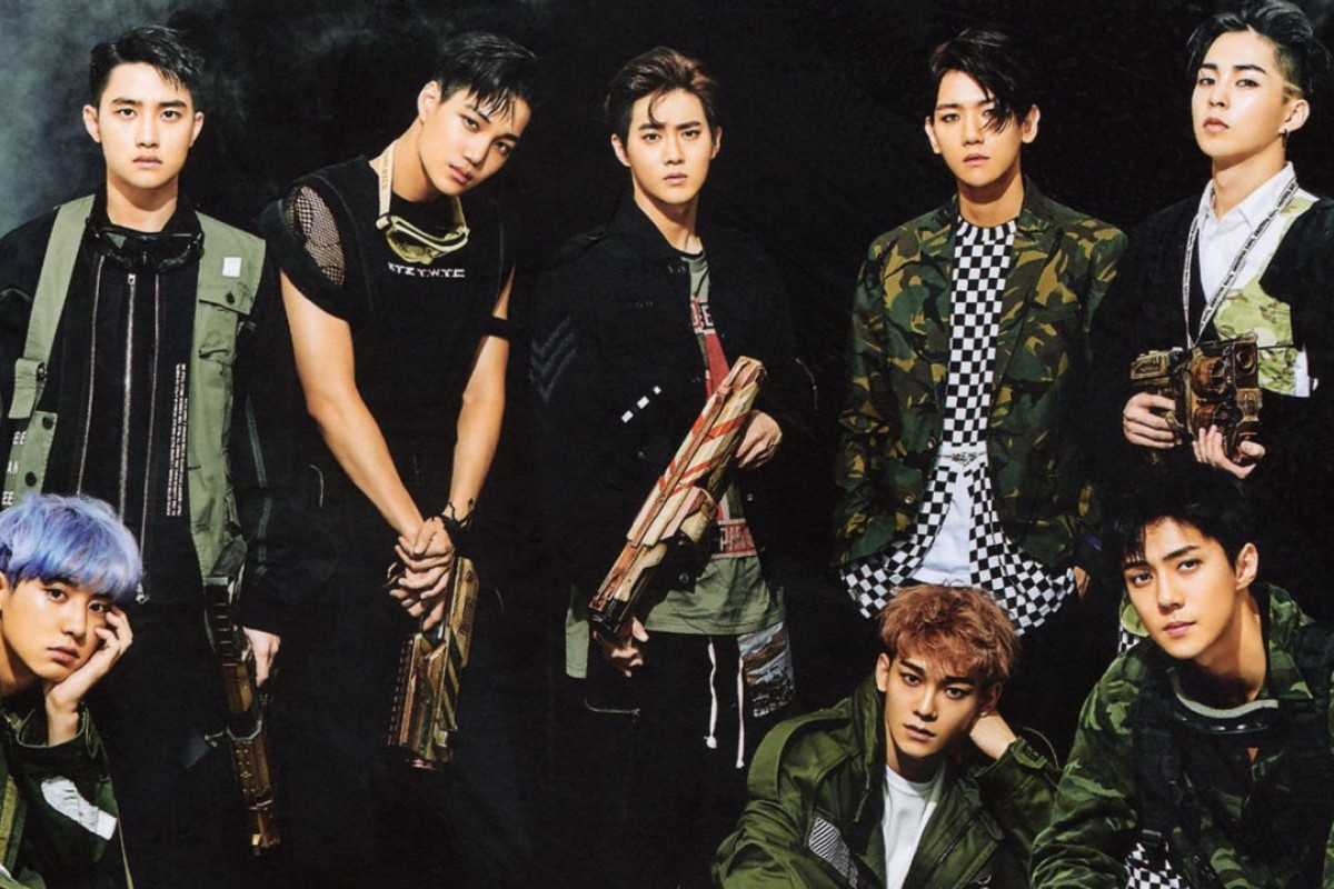 Members of the South Korean-Chinese boy band EXO, which has seen its album, 'Don't Mess Up My Tempo' which is released on Friday, achieve pre-order sales of more than 1 million. Photo: SM Entertainment