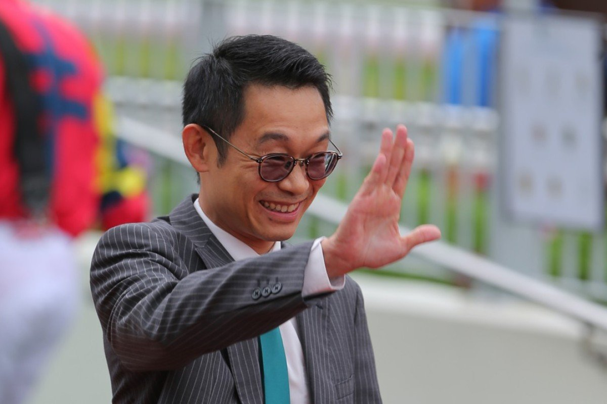 An excited Jimmy Ting at Sha Tin on Sunday. Photos: Kenneth Chan