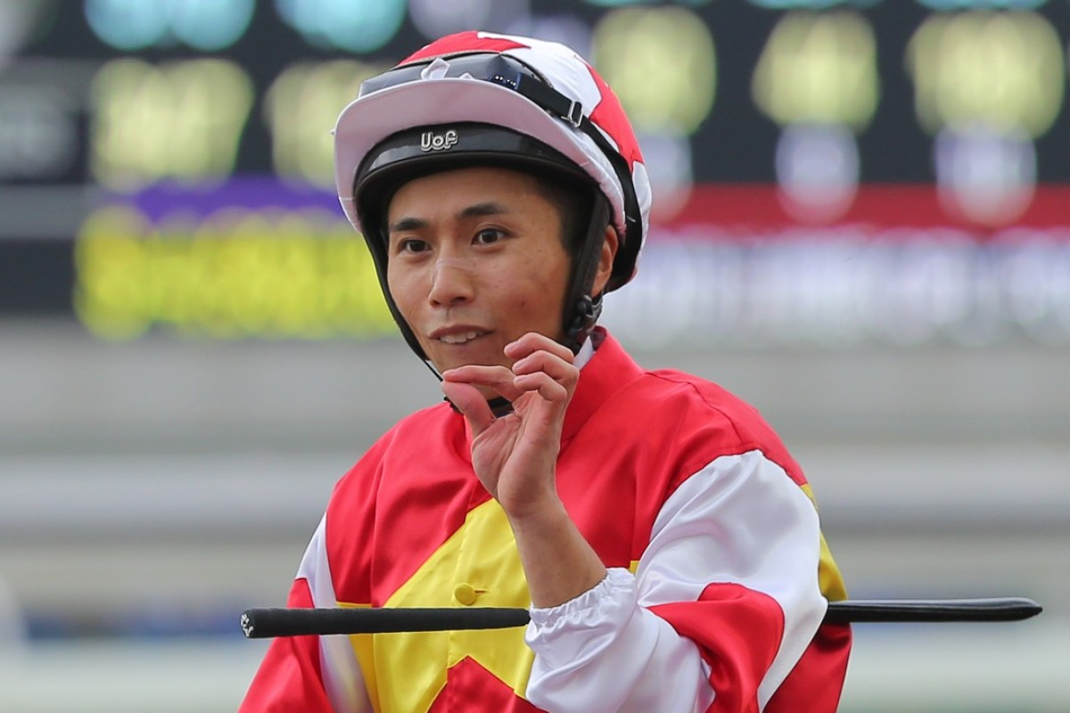 A satisfied Matthew Poon at Sha Tin on Saturday. Photo: Kenneth Chan