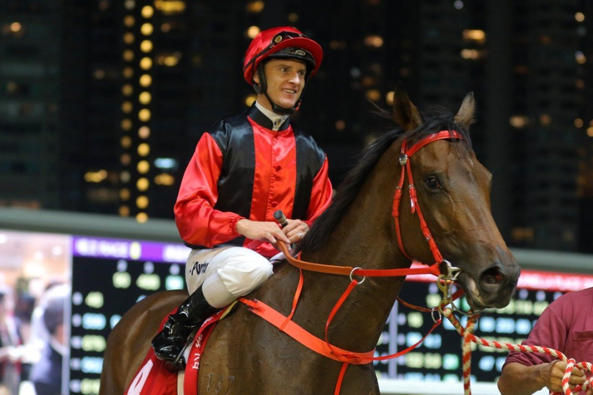 Zac Purton is happy with the performance of Country Star after winning last start at Happy Valley. Photos: Kenneth Chan