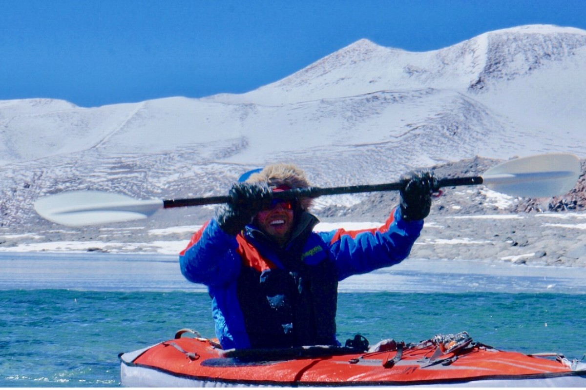 Dan Bull becomes the world record holder for the highest kayak in the world when he paddled in Ojos del Salado. Photos: Handout
