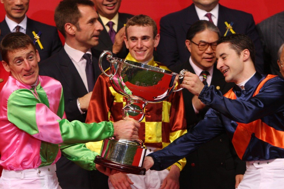 Johnny Murtagh, Ryan Moore and Christophe Lemaire share the International Jockeys' Championship at Happy Valley 2009. Photos: Kenneth Chan