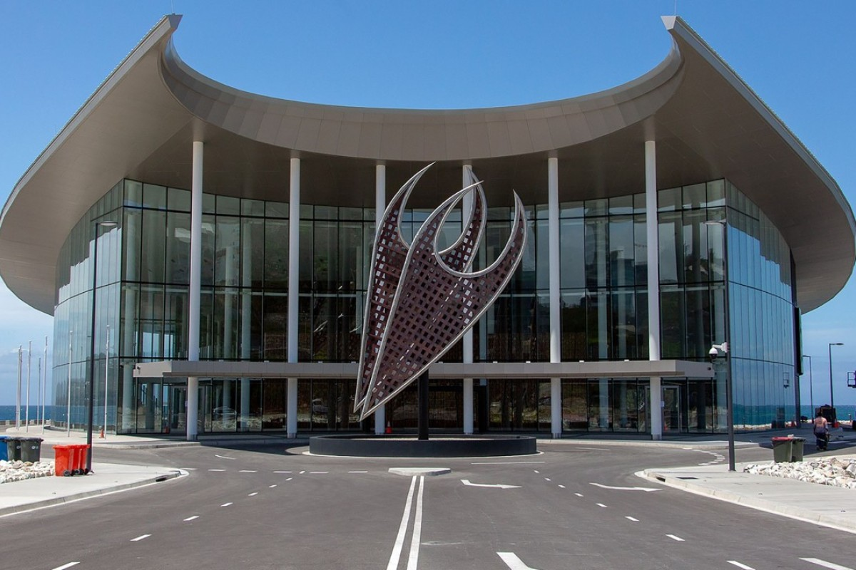 The conference centre for the Asia-Pacific Economic Cooperation (Apec) summit in Port Moresby. Photo: AFP