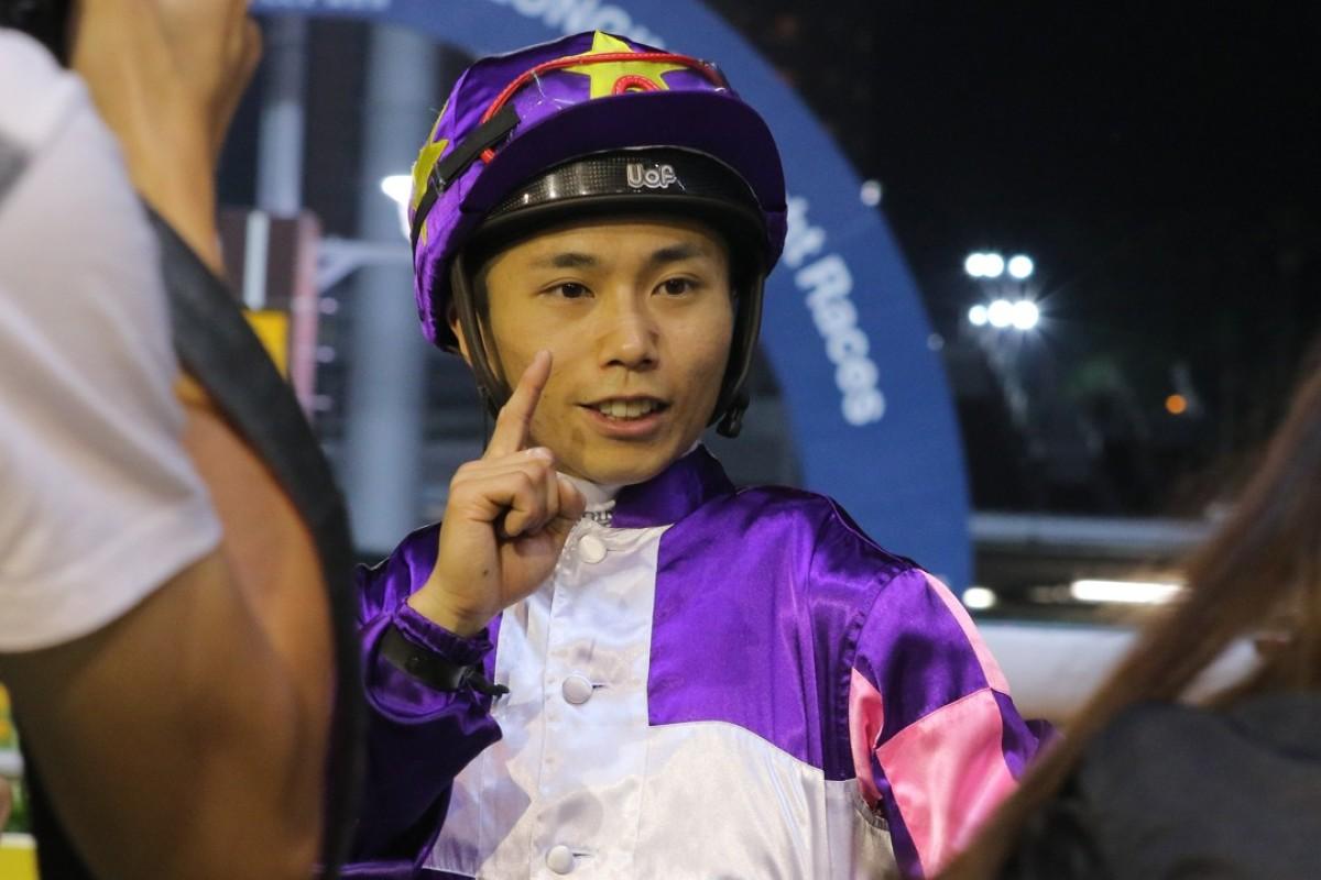 Matthew Poon celebrates a winner. Photos: Kenneth Chan