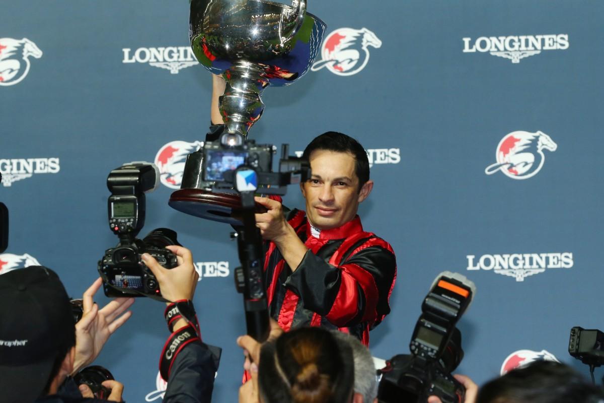 Silvestre de Sousa wins the Longines International Jockeys' Championship.