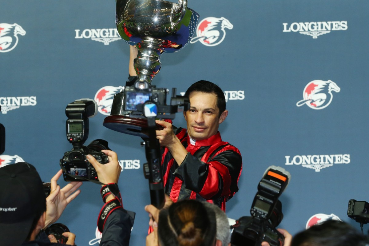 Silvestre de Sousa wins the Longines International Jockeys' Championship.