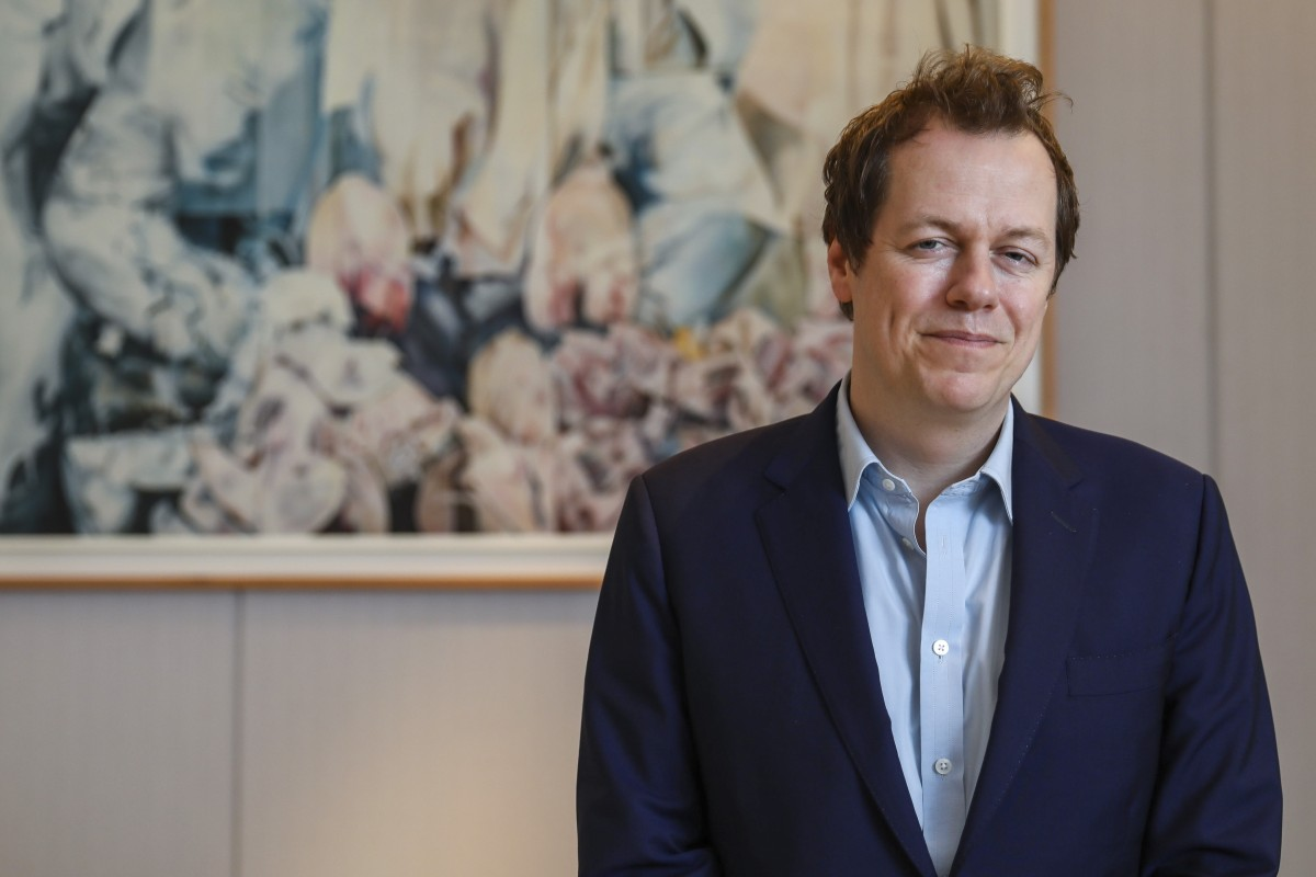 Food writer Tom Parker Bowles, in Central, in Hong Kong. Picture: Sam Tsang