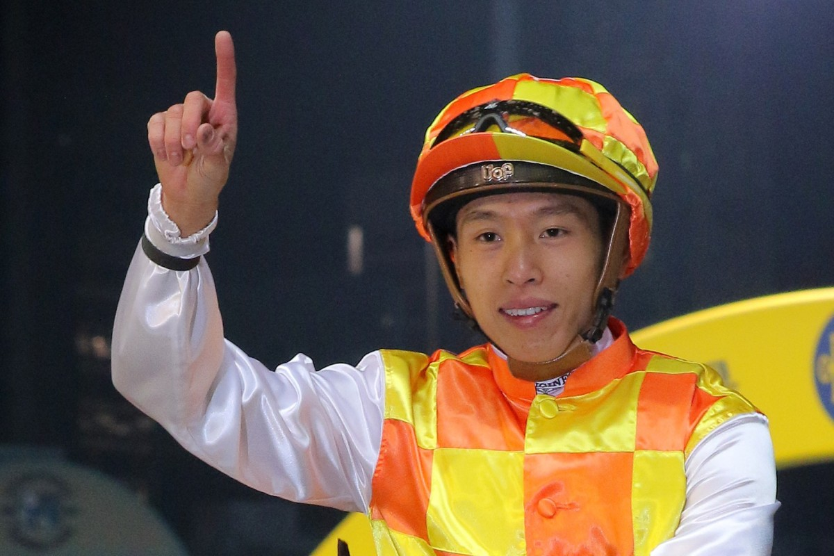 Vincent Ho celebrates a winner at Happy Valley. Photo: Kenneth Chan