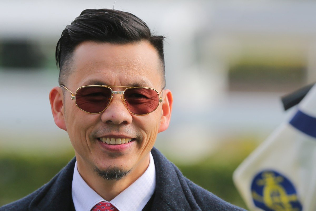Frankie Lor is all smiles after training one of his 21 winners this season. Photos: Kenneth Chan