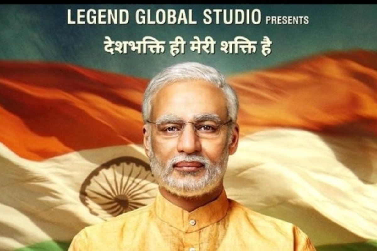 Promotional poster for the upcoming 'PM Narendra Modi' film featuring Vivek Oberoi. Photo: Twitter