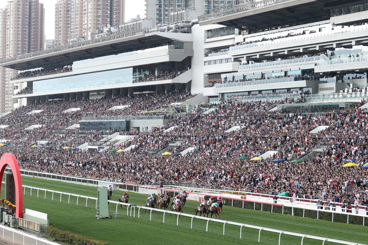 A huge crowd packs Sha Tin for the Lunar New Year races. Photos: Kenneth Chan