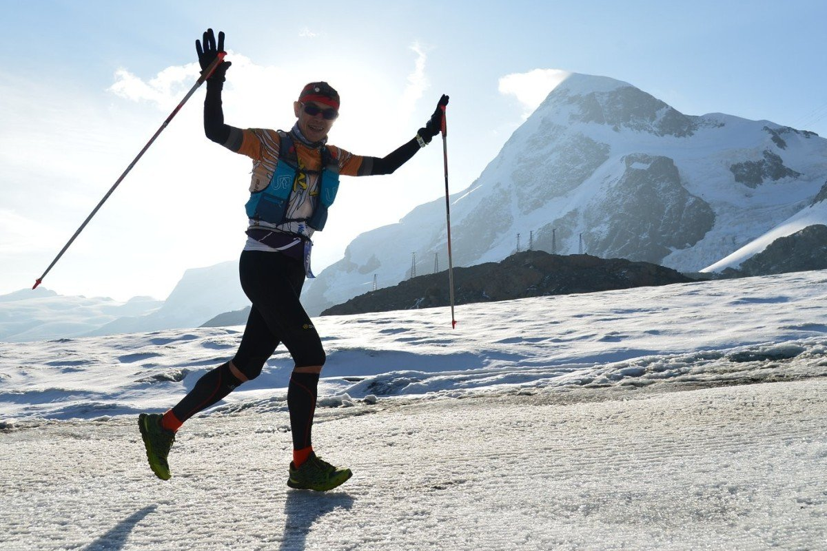 William Wong running the Ultra Trail Monte Rose. He is now trying to complete all the 100-mile races in Hong Kong in one season, known as 'the 100-mile grand slam'. Photo: Handout